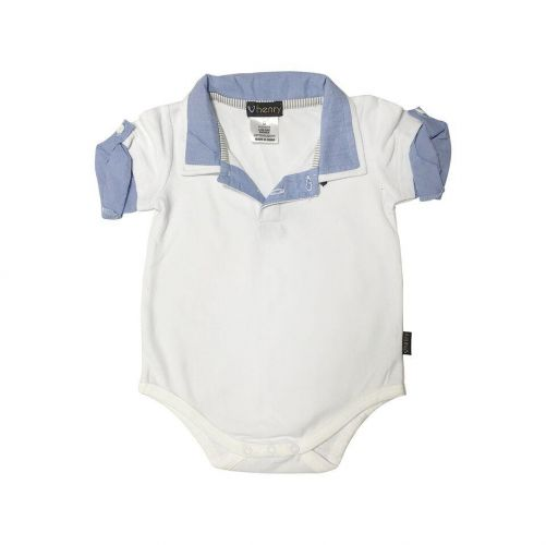 Love Henry Hamptons Austie Romper - White (000 to 2)