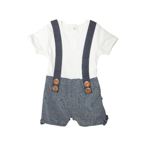 Love Henry Digby Boys Playsuit - Hamptons Dark Chambray