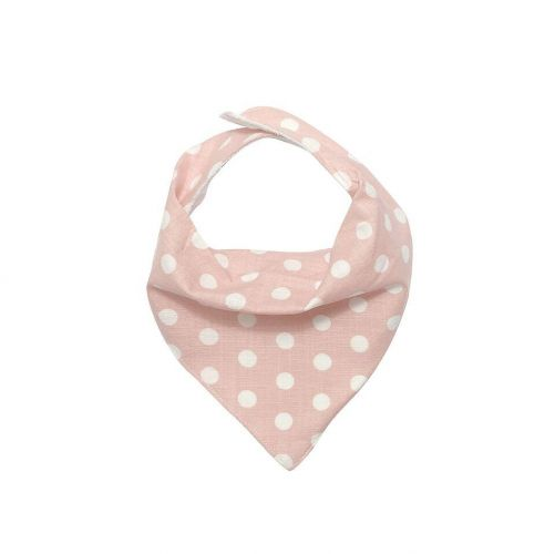 Love Henry Indigo Pink and White Spot Dribble Bib - Bandana Bib