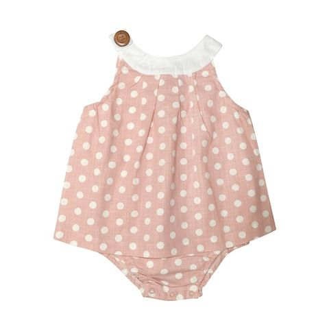 Love Henry Indigo Sofia Playsuit Pink White Spot (Sizes 000 to 2)