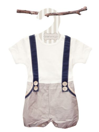 Love Henry Digby Boys Navy Playsuit (only 000 left)