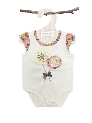 Love Henry Mae Flower Romper (Sizes 000 to 2)