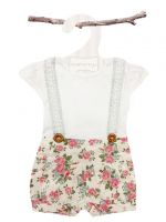 Love Henry Lola Suspenders Playsuit - Rose