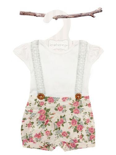 Love Henry Lola Suspenders Playsuit - Rose