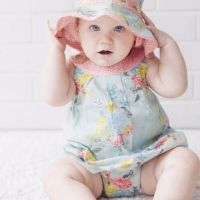 Love Henry Elka Sofia Playsuit Aqua Floral (Sizes 000 to 2)
