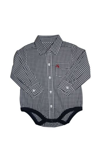 Love Henry Austin Check Shirt Romper - Navy
