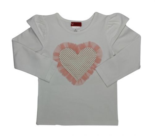 Love Henry Emma Long Sleeve Top - Heart
