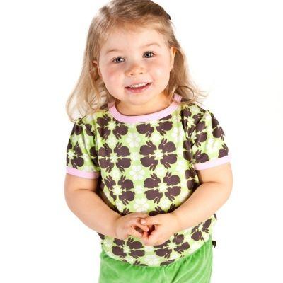 Nosh Organics - Bunnies Short Sleeve T-Shirt - 100% organic cotton (only 18-24mths left)