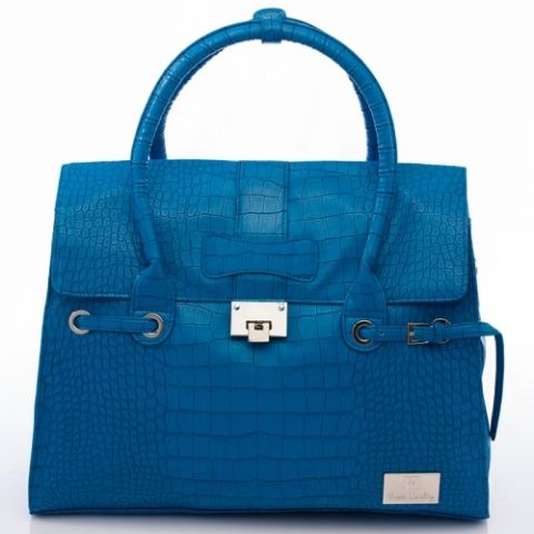 Nova Harley - Elegant Alligator Blue Nappy Bag