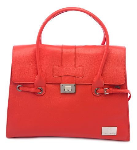 Nova Harley - Elegant Orange Leather Nappy Bag