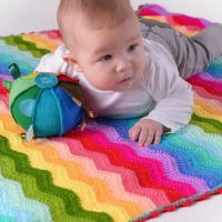 O.B. Designs Rainbow Ripple Crochet Baby Blanket