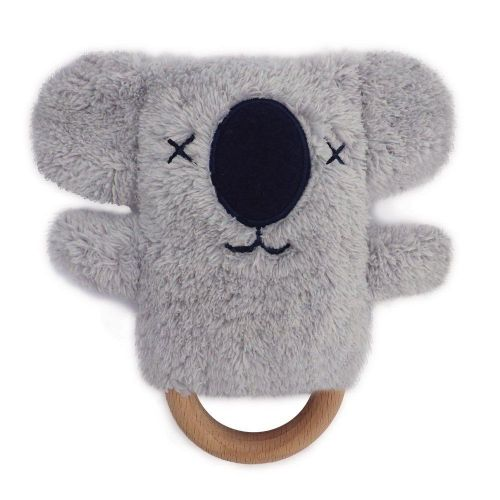 Keith Koala Dingaring Teething Toy Rattle - Grey