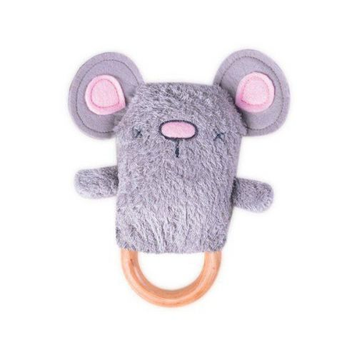 Moe Mouse Dingaring Teething Toy Rattle