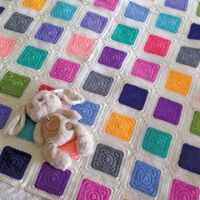 O.B. Designs Crochet Patchwork Rainbow Blanket