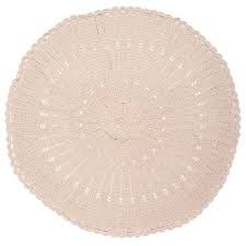 O.B. Designs Round Crochet Baby Blanket/Rug - Natural
