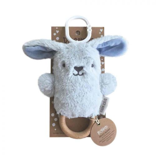 Bruce the Blue Bunny Dingaring Teething Toy Rattle