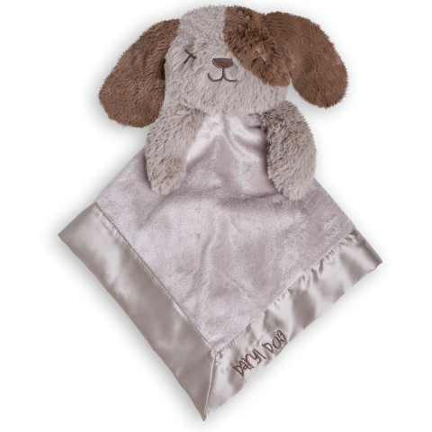 OB Designs Daryl Dog Blankie - Baby Comforter - Retired