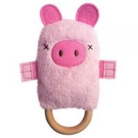 Patty Pig Dingaring Teething Toy Rattle