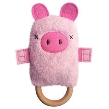 Patty Pig Dingaring Teething Toy Rattle