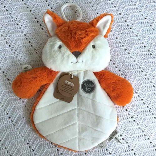 OB Designs Phoebe Fox Blankie - Baby Comforter (Orange) - Retired