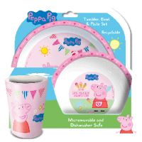 Peppa Pig - 3 piece meal set - plate, cup and bowl