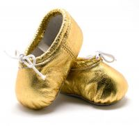 Pitter Patter Soft Sole Baby/Toddler Ballet Shoes - Gold Dust (XXS, XL)