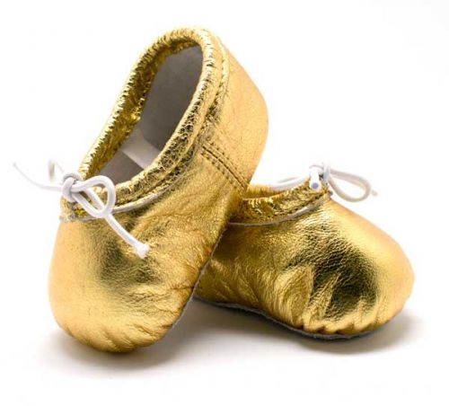 Pitter Patter Soft Sole Baby/Toddler Ballet Shoes - Gold Dust (XL)