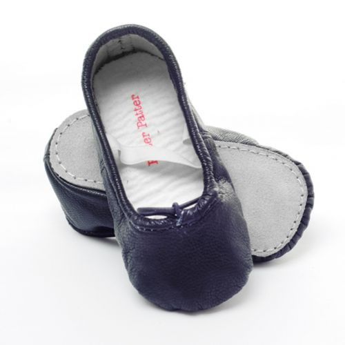 Pitter Patter Soft Sole Baby/Toddler Ballet Shoes - Liquorice Black (S, L)