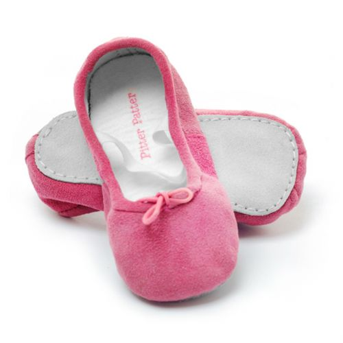 Pitter Patter Soft Sole Baby/Toddler Ballet Shoes - Amelie - Suede (L & XL)