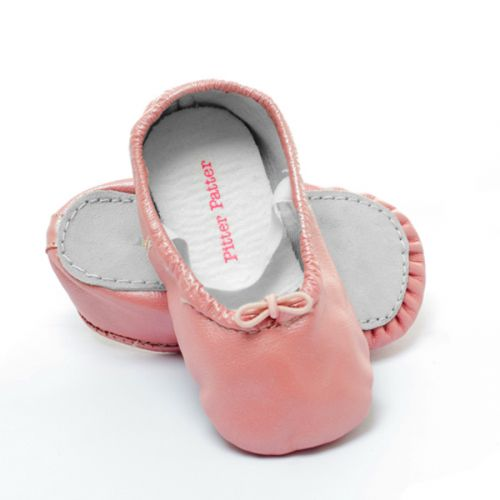 Pitter Patter Soft Sole Baby/Toddler Ballet Shoes - Cotton Candy (only 18-24mths left)