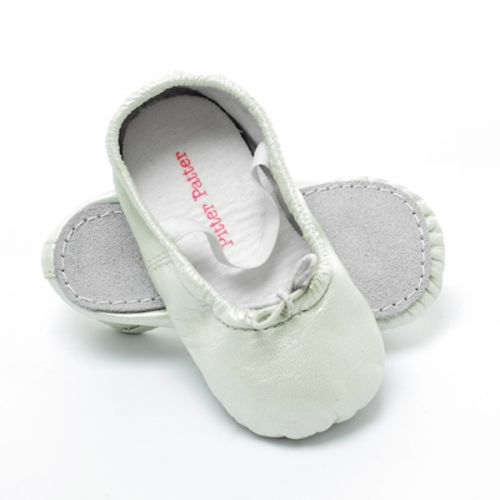 Pitter Patter Soft Sole Baby/Toddler Ballet Shoes - White Rabbit (XXS, M, L, XL)
