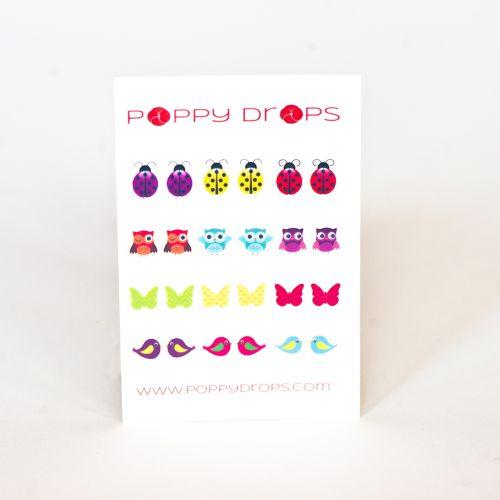 Poppy Drops I Can Fly Collection- Veggie Dye, Pierce Free Earrings
