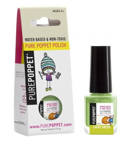 Water Based Nail Polish - Single -Lucky Green