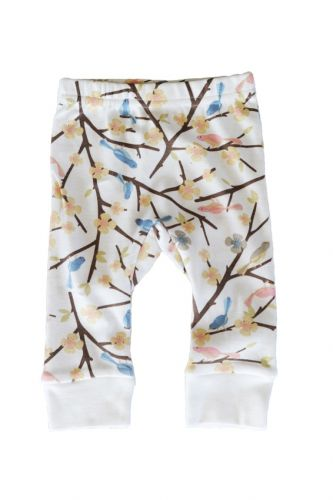 Sapling -Organic Cotton Pants- Birds in Trees (only 0-3mths left)