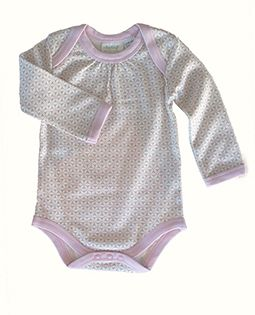 Sapling -Organic Cotton Long Sleeve Bodysuit - Essentials Pink
