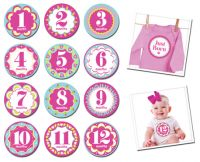 Sticky Bellies Kaleidoscope Cutie - Milestone Stickers 0-12 months