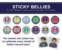 Sticky Bellies Oh Sew Handsome - Milestone Stickers 13-24months