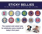 Sticky Bellies Oh Sew Handsome - Milestone Stickers 0-12 months