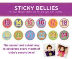 Sticky Bellies Oh Sew Adorable Girls - Milestone Stickers 13-24months