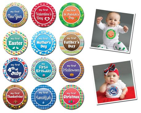 Sticky Bellies Happiest Holiday - Milestone Stickers