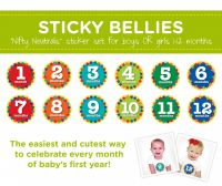 Sticky Bellies Nifty Neutrals - Milestone Stickers 0-12 months