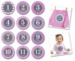Sticky Bellies Patterned Princess - Milestone Stickers 0-12 months