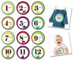 Sticky Bellies Wild One - Milestone Stickers 0-12 months