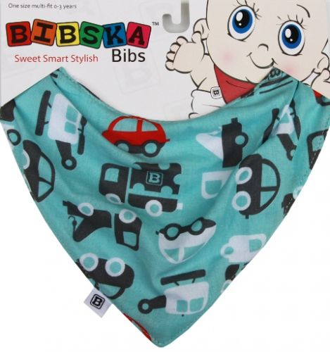 Bibska Bib - Transport- Dribble Bib -Bandana Bib