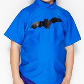 Wave Rat Bats Short Sleeve Rash Vest 50+ (Sizes 3 to 6)