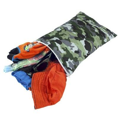 Itzy Ritzy Travel Happens Sealed Medium Wet Bag - Camo