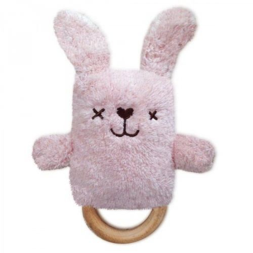 RETIRED Betsy the Pink Bunny Dingaring Teething Toy Rattle