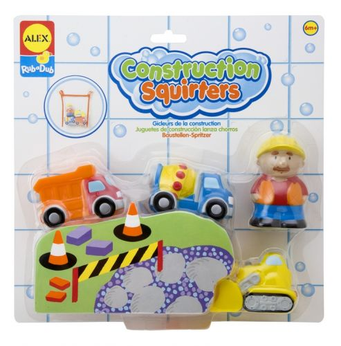 Squirters For The Tub - Construction - Bath Toys