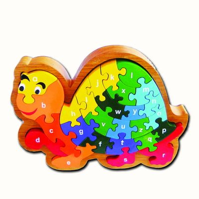 ARTIWOOD - A-Z LETTER TURTLE FRAME PUZZLE