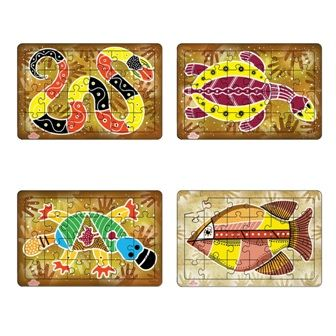Australian Aboriginal Art Puzzles - Single